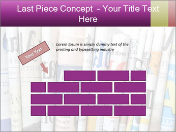 Row of newspapers PowerPoint Template - Slide 46