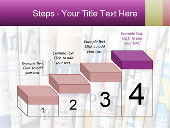 Row of newspapers PowerPoint Template - Slide 64
