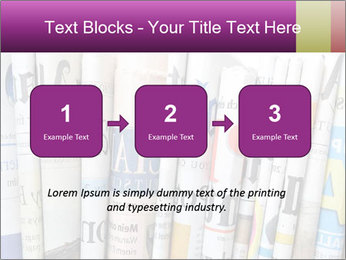 Row of newspapers PowerPoint Template - Slide 71