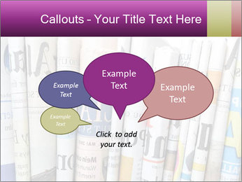Row of newspapers PowerPoint Template - Slide 73