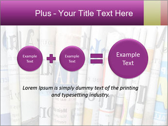 Row of newspapers PowerPoint Template - Slide 75