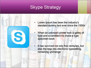 Row of newspapers PowerPoint Template - Slide 8