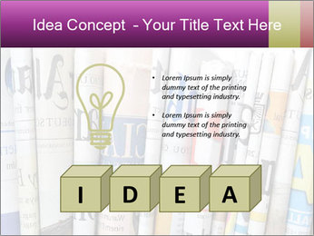 Row of newspapers PowerPoint Template - Slide 80