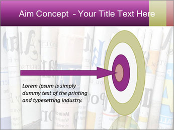 Row of newspapers PowerPoint Template - Slide 83