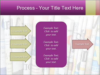 Row of newspapers PowerPoint Template - Slide 85