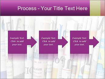 Row of newspapers PowerPoint Template - Slide 88