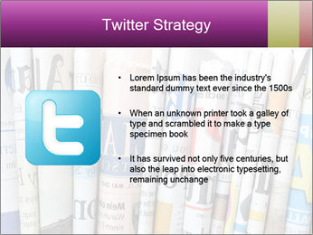 Row of newspapers PowerPoint Template - Slide 9