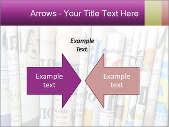 Row of newspapers PowerPoint Template - Slide 90