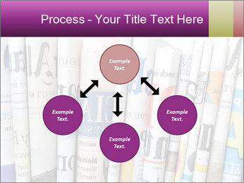 Row of newspapers PowerPoint Template - Slide 91