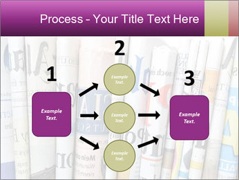 Row of newspapers PowerPoint Template - Slide 92