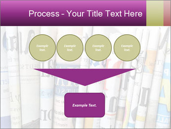 Row of newspapers PowerPoint Template - Slide 93