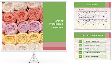 Colorful towels template PowerPoint Template