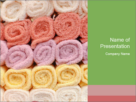 Colorful towels template PowerPoint Templates