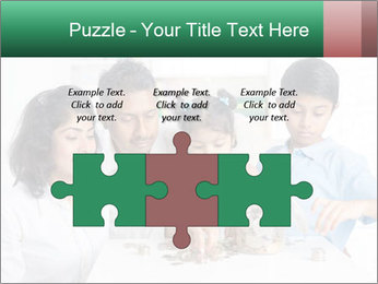 Indian family teaching children PowerPoint Template - Slide 42