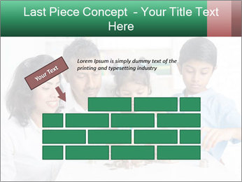 Indian family teaching children PowerPoint Template - Slide 46