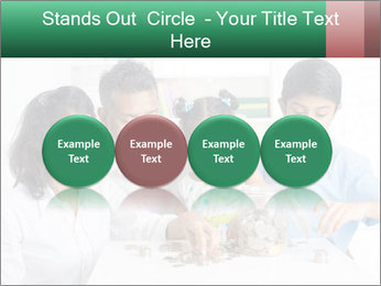 Indian family teaching children PowerPoint Templates - Slide 76
