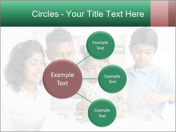 Indian family teaching children PowerPoint Templates - Slide 79