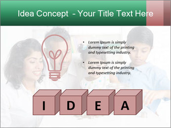 Indian family teaching children PowerPoint Template - Slide 80