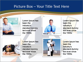 Businessman doing Yoga to calm down the stressful emotion PowerPoint Template - Slide 14