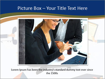 Businessman doing Yoga to calm down the stressful emotion PowerPoint Templates - Slide 16