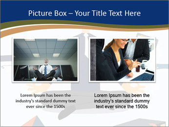 Businessman doing Yoga to calm down the stressful emotion PowerPoint Template - Slide 18