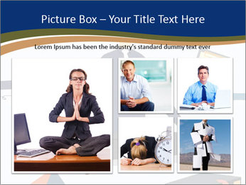 Businessman doing Yoga to calm down the stressful emotion PowerPoint Template - Slide 19