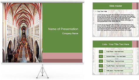 Symmetrical composition of the interior PowerPoint Template