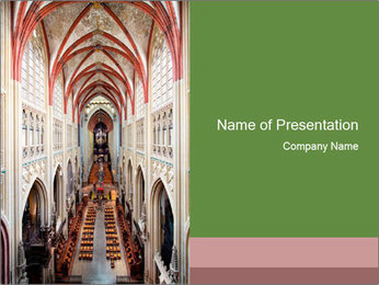Symmetrical composition of the interior PowerPoint Template - Slide 1