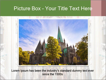 Symmetrical composition of the interior PowerPoint Template - Slide 16