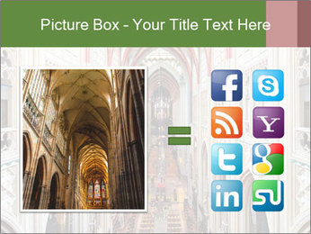 Symmetrical composition of the interior PowerPoint Template - Slide 21