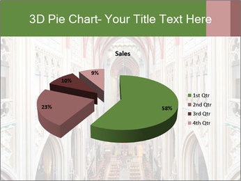 Symmetrical composition of the interior PowerPoint Template - Slide 35