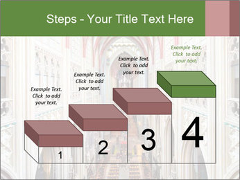 Symmetrical composition of the interior PowerPoint Template - Slide 64