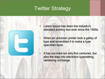 Symmetrical composition of the interior PowerPoint Template - Slide 9