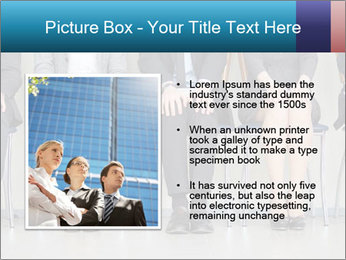 Portrait of several elegant employees sitting PowerPoint Template - Slide 13