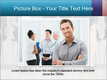 Portrait of several elegant employees sitting PowerPoint Template - Slide 15