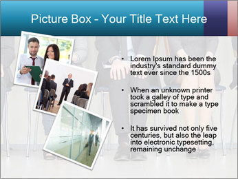 Portrait of several elegant employees sitting PowerPoint Template - Slide 17