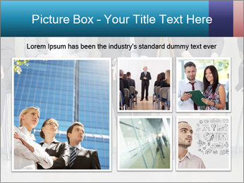 Portrait of several elegant employees sitting PowerPoint Template - Slide 19