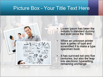 Portrait of several elegant employees sitting PowerPoint Template - Slide 20