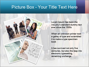 Portrait of several elegant employees sitting PowerPoint Template - Slide 23