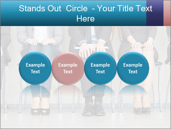 Portrait of several elegant employees sitting PowerPoint Template - Slide 76