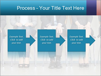 Portrait of several elegant employees sitting PowerPoint Template - Slide 88