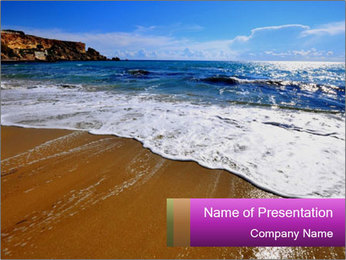 Must beautiful beach on Maltese islands PowerPoint Template