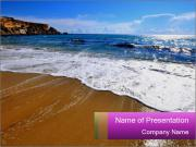 Must beautiful beach on Maltese islands PowerPoint Templates