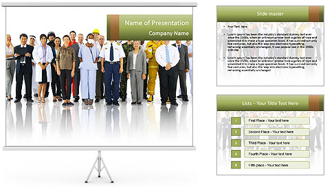 Diversity of People and Occupations PowerPoint Template