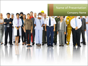 Diversity of People and Occupations PowerPoint Template - Slide 1