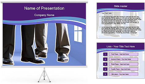 Empty room PowerPoint Template