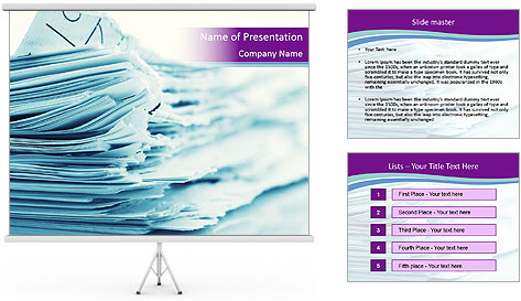 Ragged paper sheets PowerPoint Template