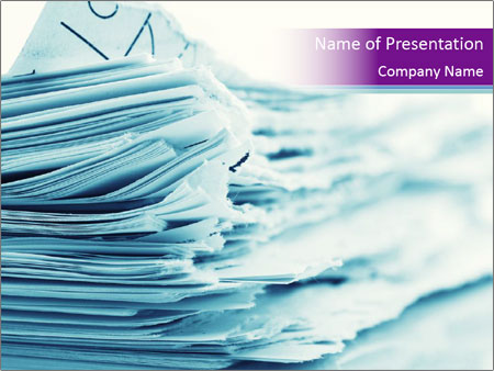 Ragged paper sheets PowerPoint Templates