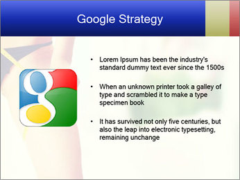 Slim woman measuring her leg PowerPoint Template - Slide 10