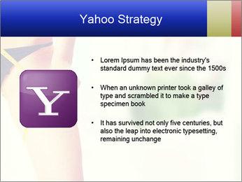 Slim woman measuring her leg PowerPoint Template - Slide 11